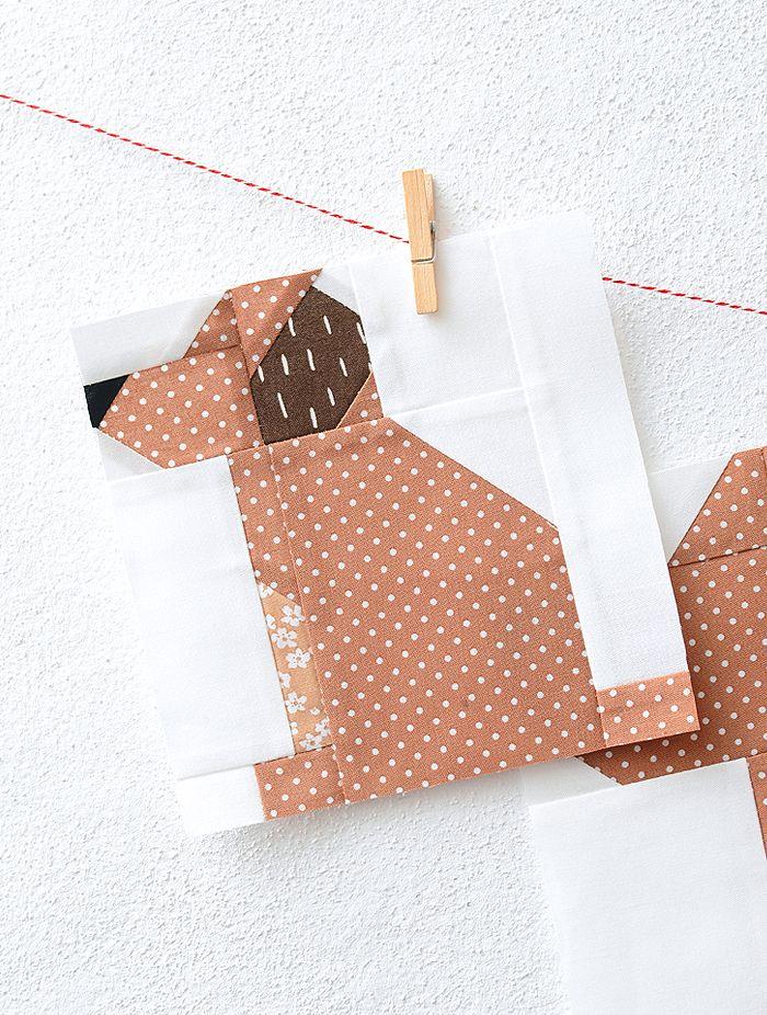 New Fall Quilt Pattern Puppy Dog Quilt Block Quilt Pinterest