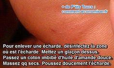 Que ce soit dans le pied, le doigt ou la main, le truc est toujours le même. Il suffit d'utiliser un peu d'huile d'amande douce ou d'olive.  Découvrez l'astuce ici : http://www.comment-economiser.fr/echarde-dans-le-pied.html?utm_content=buffer2ca3e&utm_medium=social&utm_source=pinterest.com&utm_campaign=buffer