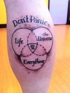 hitchhiker's guide to the galaxy tattoo - Google Search