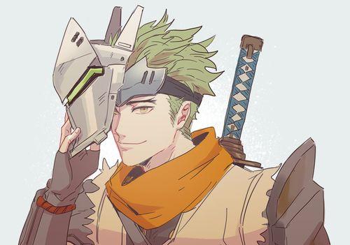 Imagen de fanart, genji shimada, and genji