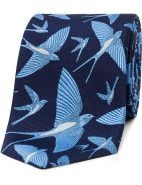 Thomas Pink Flying Swallows Tie $129.00  #fashion #style #blue #trend #shop #menswear #tie #suit #print
