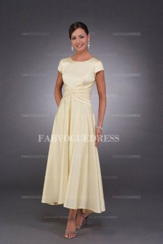 A Line Princess Scoop Neck Asymmetrical Charmeuse Mother Of The Bride Dress With Ruffle Beading Mvbridal
