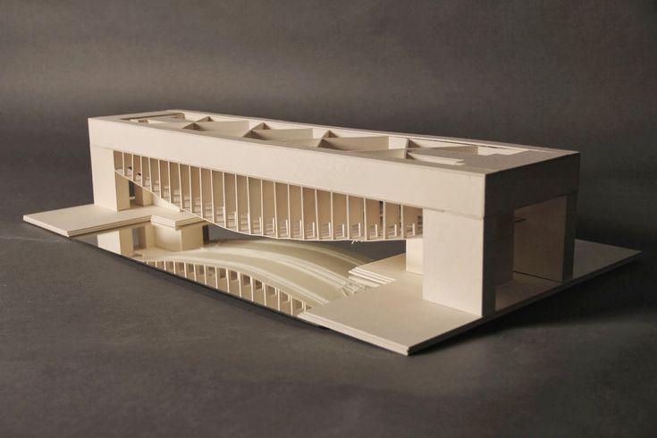 Modellfoto Palazzo dei Congressi Louis I. Kahn Venice designed 1968-1974 (was never built)
