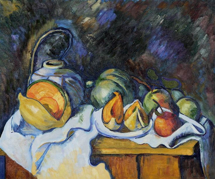 Still Life With Melons And Apples - Paul Cezanne Paintings