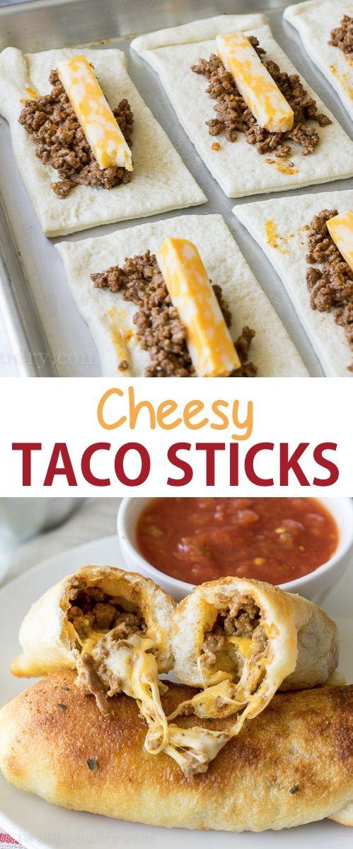 Cheesy taco sticks
