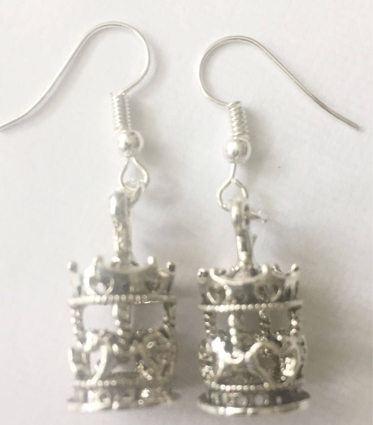 Carousel Earrings, Merry-Go-Round Earrings, Horse Lover's Earrings, Horse Theme Earrings, Gift for Horse Lover, Antique Silver, UK https://www.etsy.com/listing/548385607/carousel-earrings-merry-go-round?utm_campaign=crowdfire&utm_content=crowdfire&utm_medium=social&utm_source=pinterest