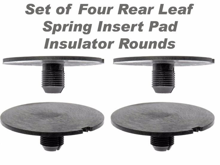 Rear Leaf Spring Plastic Insert Pad Spacer Insulator Round Set Of 4 Fits for 1998-2011 Chevy GMC Trucks (Replaces GM 20870046) #Affiliate