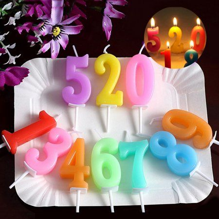 Birthday Number Candles Coxeer 20 Pack Cake Creative Candle With Stick Weddingcakerecipes