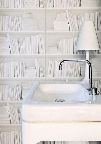 Wallpaper Bookshelf - White
