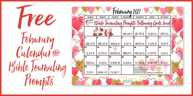 Download the printable February 2017 calendar PDF at the bottom of this page. Print out the calendar, look up the daily scripture in your favorite Bible, and copy the scripture into any notebook or use you favorite Bible journaling method (drawing, stickers, washi tape, etc). If you are looking for a specific set of verses, just click … Read more...