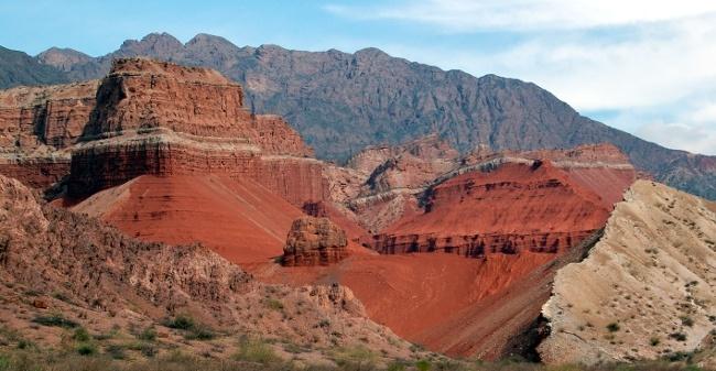 Quebrada de Cafayate - canyon in northwest Andes territory, Argentina
