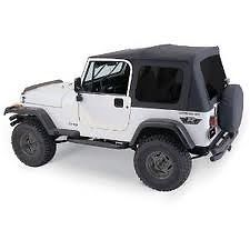 Rampage Complete Soft Top W Frame Tint 76 95 Jeep Cj 7