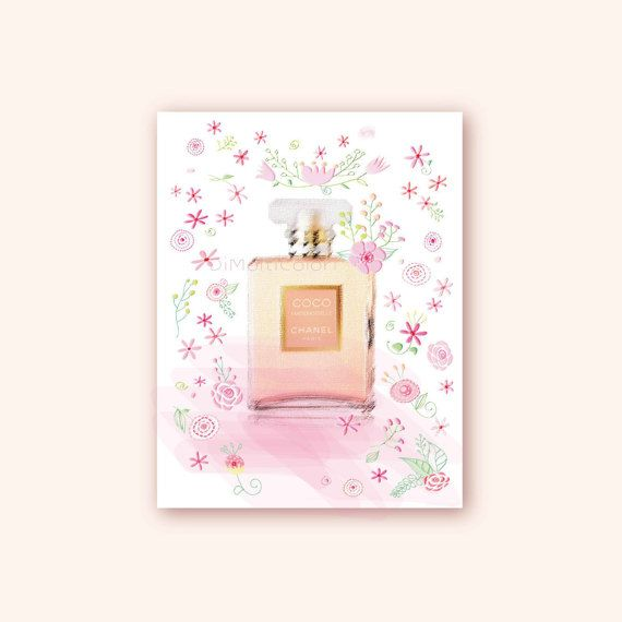 Printable Coco Mademoiselle Chanel Paris Perfum Bottle  http://etsy.me/2s4OsyX    #coco #mademoiselle #Chanel #Paris #perfume #bottle #printable #trench#wall  #decor #girlie #vanity #gallery #digital #poster #fashion #illustration #women  #bedroom #girls