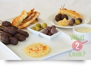 Middle Eastern Meze Platter with Mediterranean Seasoning