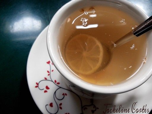 Ginger tea It is so nice to start the day with a hot drink like this!