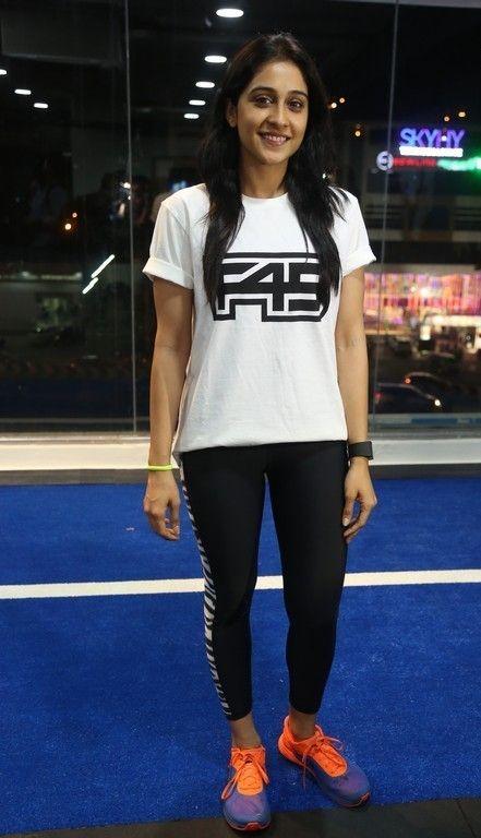 Regina Cassandra at Gym launch.#reginacassandra #tollywoodactress http://manchimovies.com
