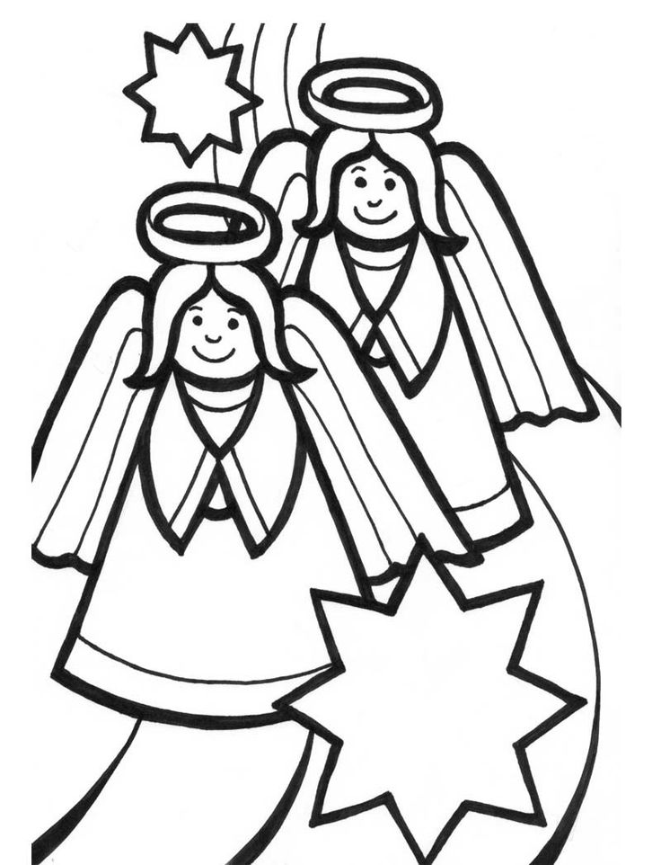 17 Best images about Christmas Angel Coloring Page on ...