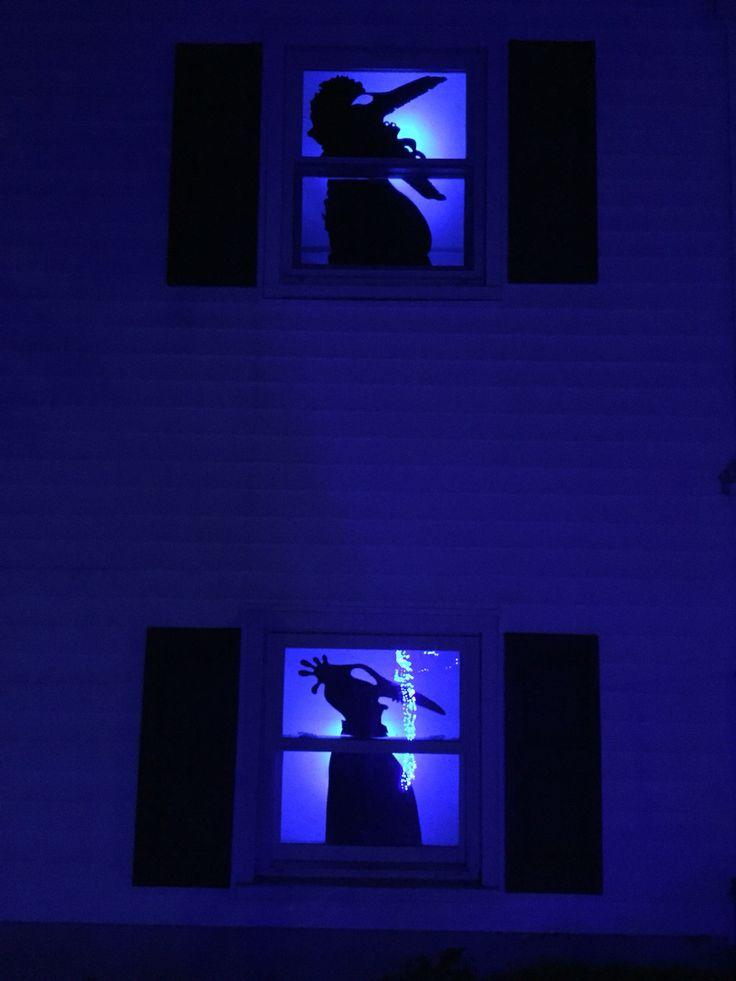 beetlejuice window silhouettes for ovega halloween theme