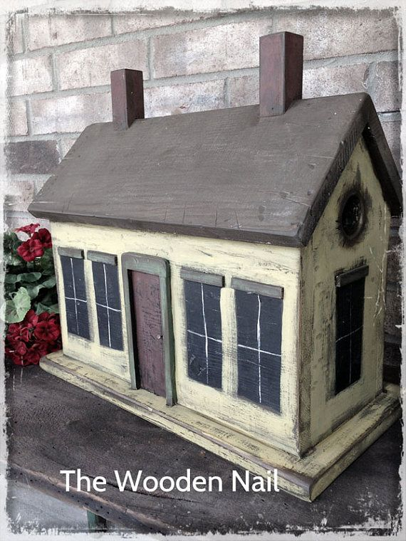 Primitive Cottage Birdhouse Pattern Plan WN166 et by TheWoodenNail