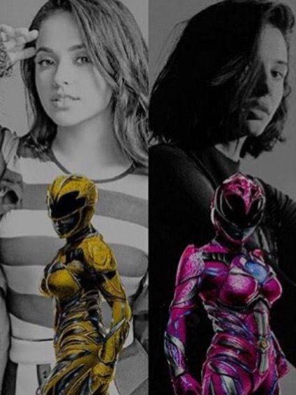 Female Power Rangers. Becky G and Naomi Scott are the best Trini and Kimberly!