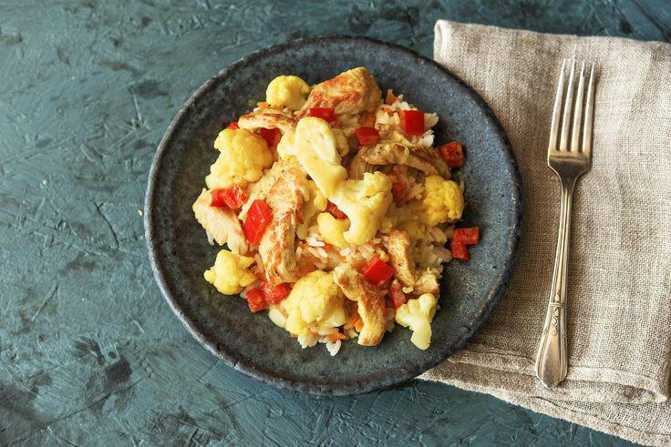 Ein Hauch Asiens: Inspiriert von der bunten, asiatischen (Ess-)Kultur haben wir dieses farbenfrohe Puten-Curry kreiert. Die Kombination aus zartem Putenfleisch, Reis und frischem Gemüse sorgt für ein einzigartig-leckeres Geschmackserlebnis. Guten Appetit!