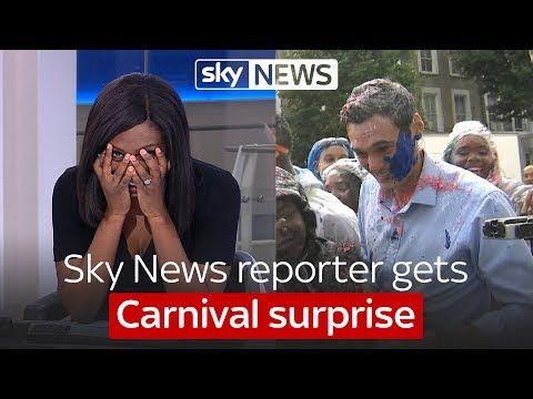 Sky News reporter's Carnival surprise - YouTube