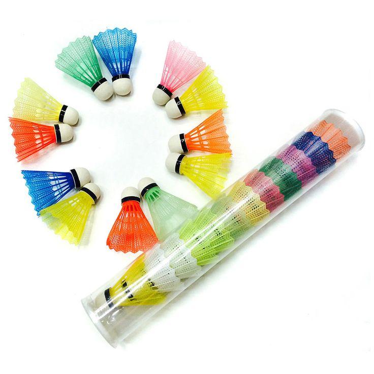 12 Piece Colorful Nylon Badminton Shuttlecock