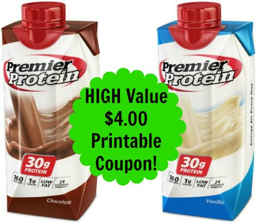 High Value $4.00 Premier Protein Shakes Coupon, http://www.savingeveryday.net/?p=94541