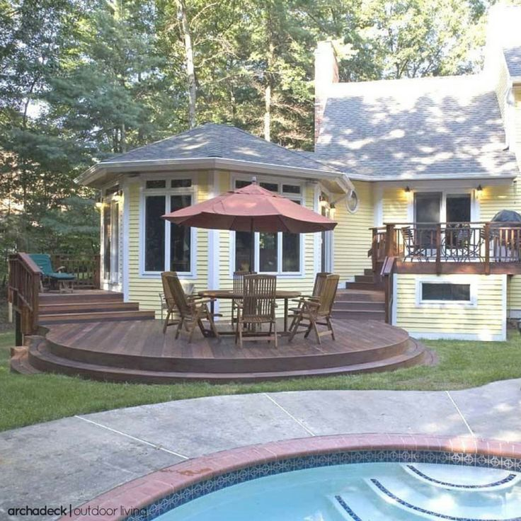 141 Best Images About Deck Design Ideas For Swimming Pools Hot Tubs And Spas On Pinterest Hot