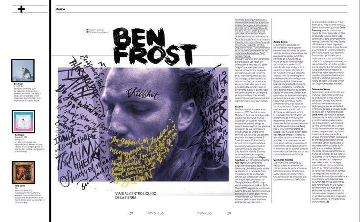 Música: Ben Frost  #editorial #BenFrost #lettering #calligraphy #handlettering #editorialdesign #brushpen #graphicdesign #letteringintervention