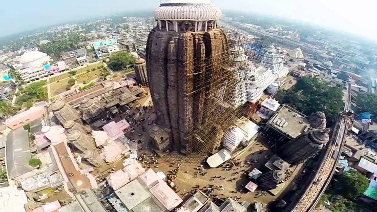 KRISHNAM VANDE JAGADGURUM  Puri Jagannath Temple Aerial View HD Full