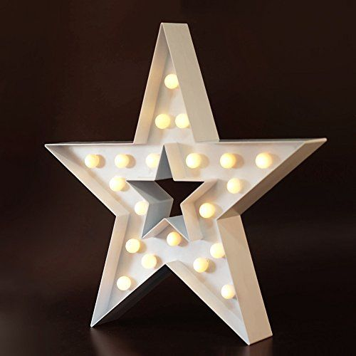 ^^ Huge price off!: BRIGHT ZEAL Marquee STAR Sign LED Lights - White 10611 at Christmas Home Decor .