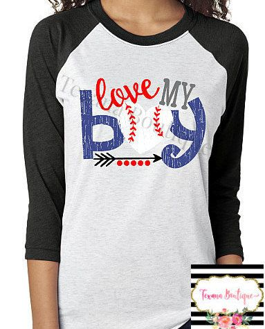 Love my boy womens baseball shirts baseball mom by TexanaBoutique