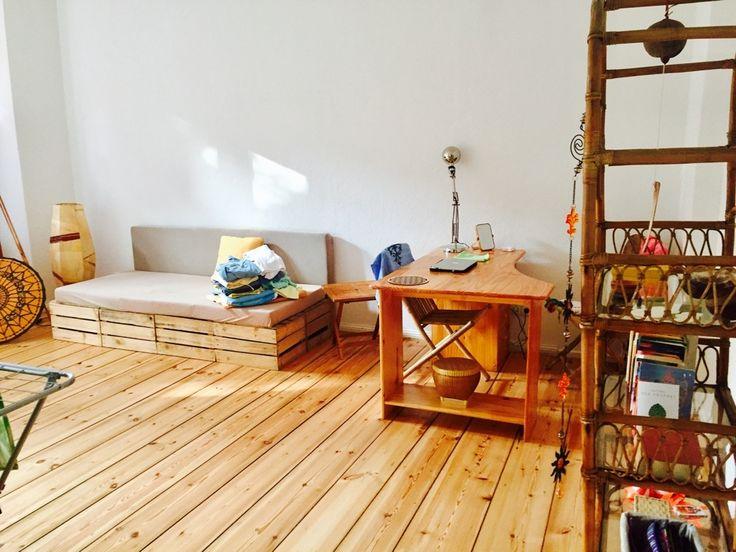 Sofa Aus Holzkisten Frs Wohnzimmer DIY Idee Einrichtung