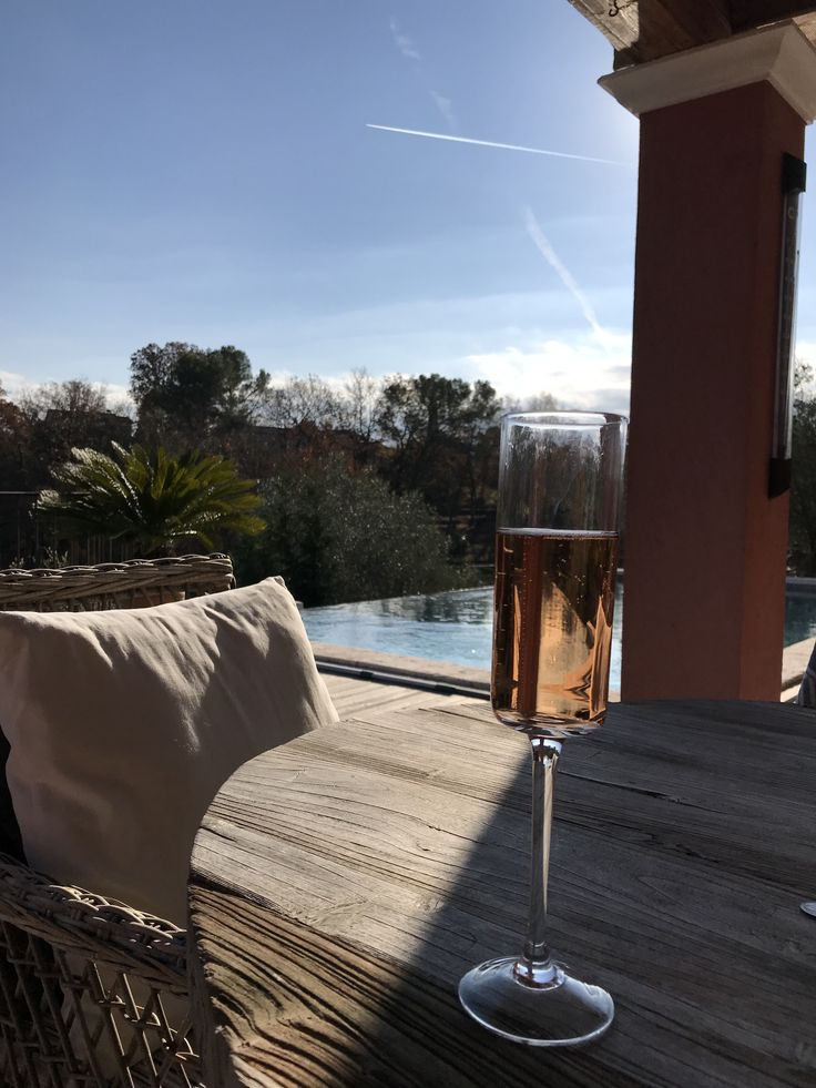 Rosé Champagne, an Infinity pool, and the Sun is shining.  Valbonne, France December 2017  #blessed