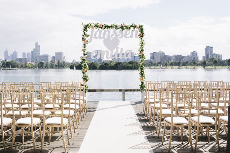 Outdoor Space - Ceremony on the balcony at Carousel, Albert Park Lake, catering by fooddesire with styling by The Style Co.