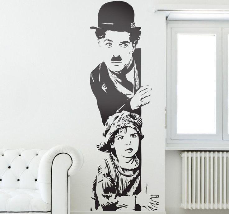 Vinilo decorativo Chaplin El Chico