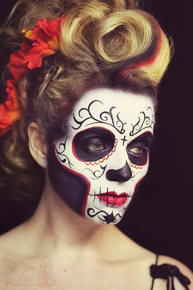 Hope Shots Photography Artist Unique Irish Hair Daisy Mae Wark Model Hitary T. Sugar Skull Face painting