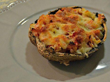 Receita de Cogumelos Portobello recheados com Bacon e Delícias do Mar .:. Kitchenet .:. Livro de culinária do aeiou