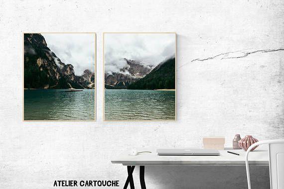 Symmetry Photography Lake Nature Print Scenery Landscape