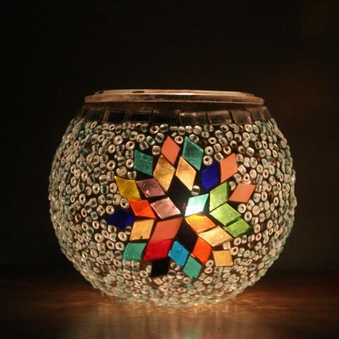 Starry Mosaic Tea Light Holder