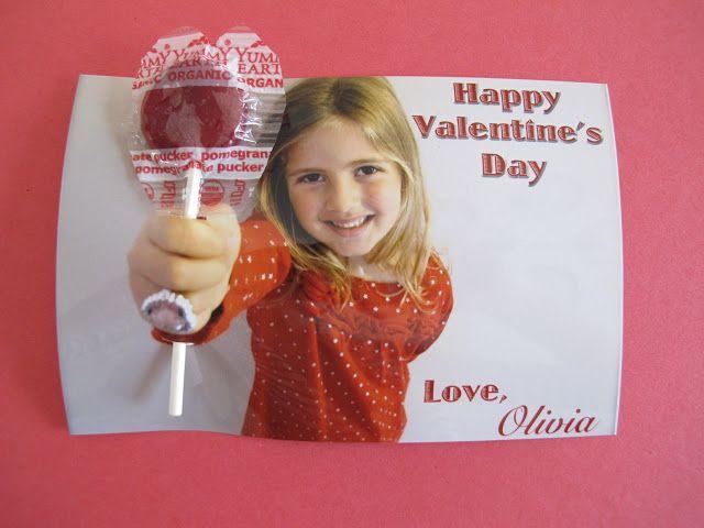 YumEarth Organics Lollipop Valentine's Day Cards!