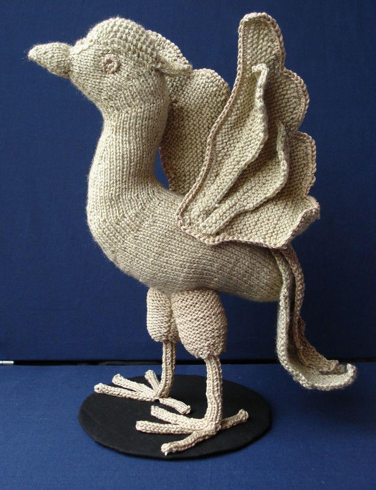 Ildiko textile art - Textiles A knitted, crochet Liver Bird!!