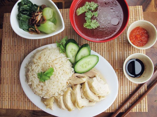 Hainanese Chicken Rice Set. http://www.seriouseats.com/recipes/2013/08/hainanese-chicken-rice-set-recipe.html