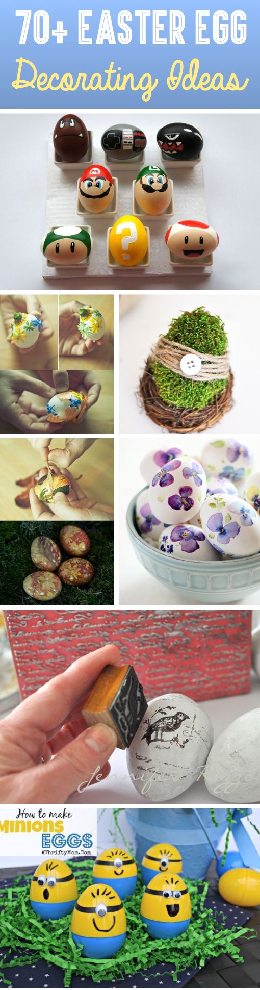 70+ Easter Egg Decorating Ideas For The Artist Hidden Inside You! // 70 ideas para decorar huevos de Pascua, para el artista que hay en tí