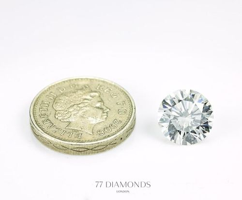 And this is what a 6ct round #diamond looks like... @77 Diamonds