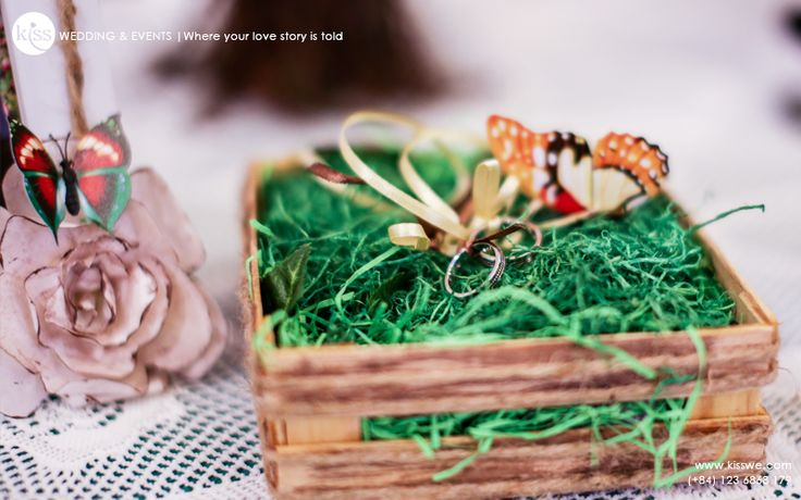 #rusticwedding #ring #ringbearer #butterfly