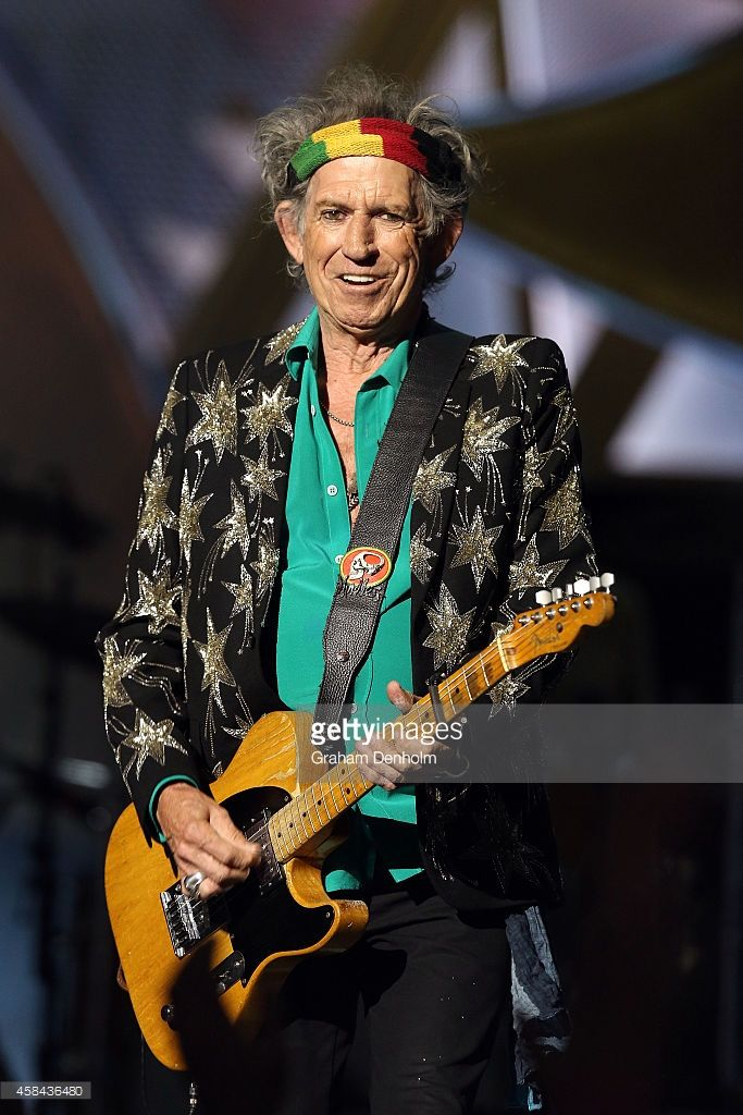 Keith Richards of The Rolling Stones performs live at Rod Laver Arena on…