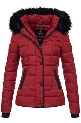 Marikoo warme Damen Winter Jacke Steppjacke Winterjacke gesteppt Parka B391  (S, Rot in 2019   Jacken   Mäntel Damen   Winter und Parka 785bc3d6b9