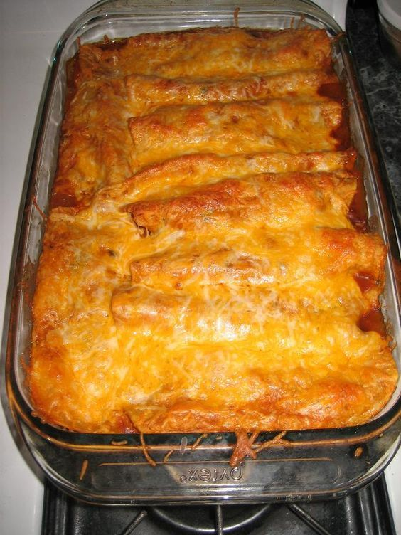 Beef Enchiladas. Used 4 oz cream cheese and 1 can green chilies in meat.